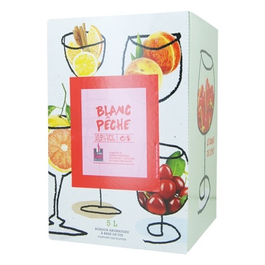 Rav Boisson Aromatisee Base De Vin Blanc Peche 5l
